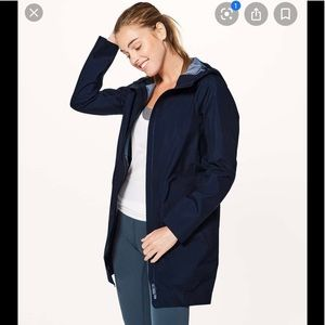 Lululemon Rain Haven Jacket Midnight Navy Size 2